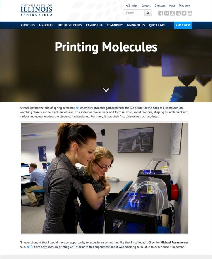 Printing Molecules